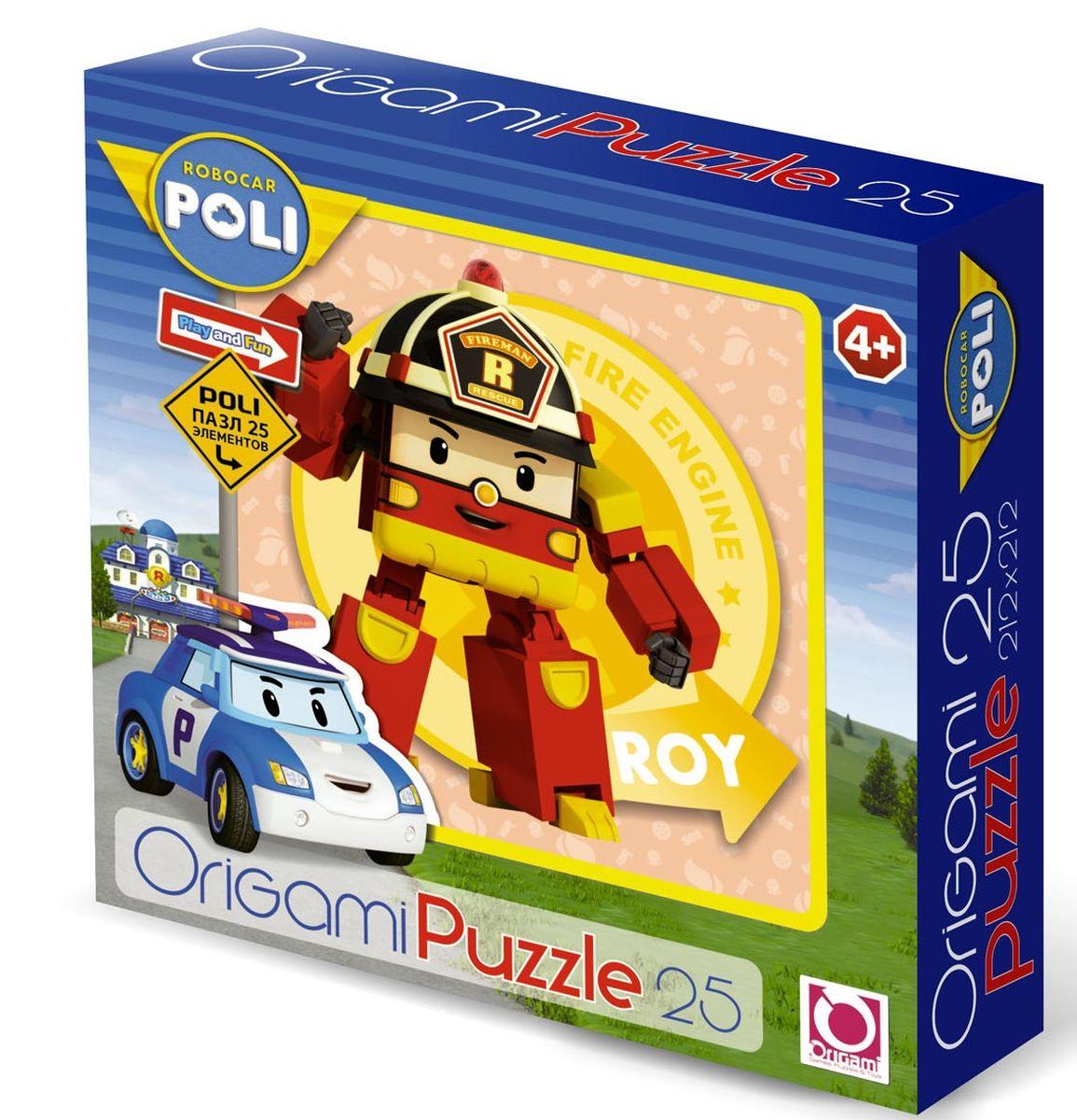 Оригами Пазл для малышей Robocar Poli 00162 пазл 3d 216 элементов оригами эйфелева башня