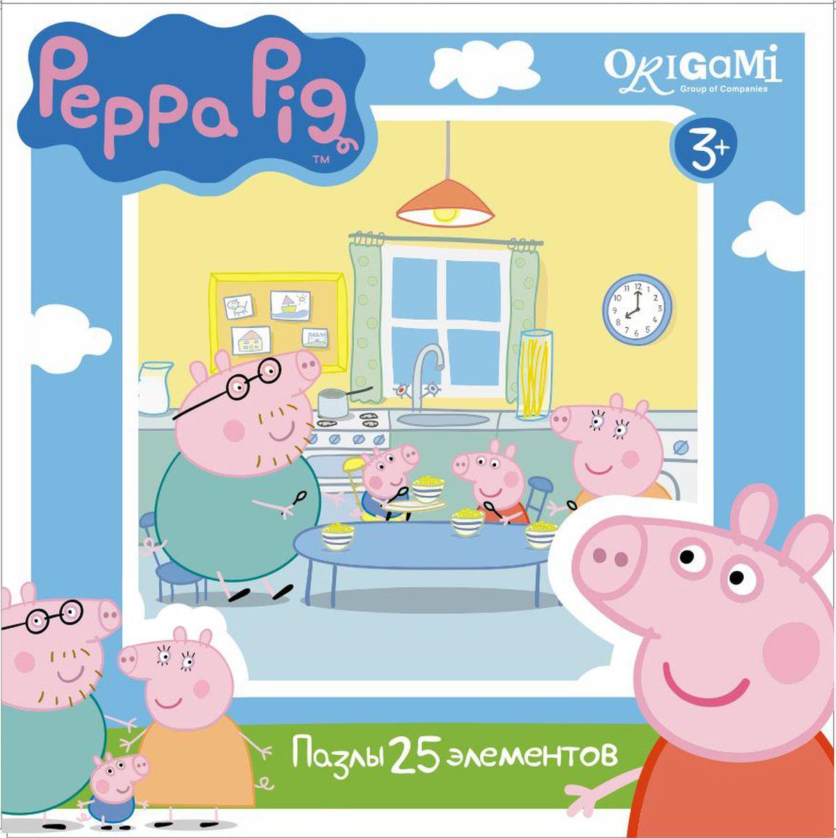 Оригами Пазл для малышей Peppa Pig 01581 пазл 4 в 1 peppa pig транспорт 01597