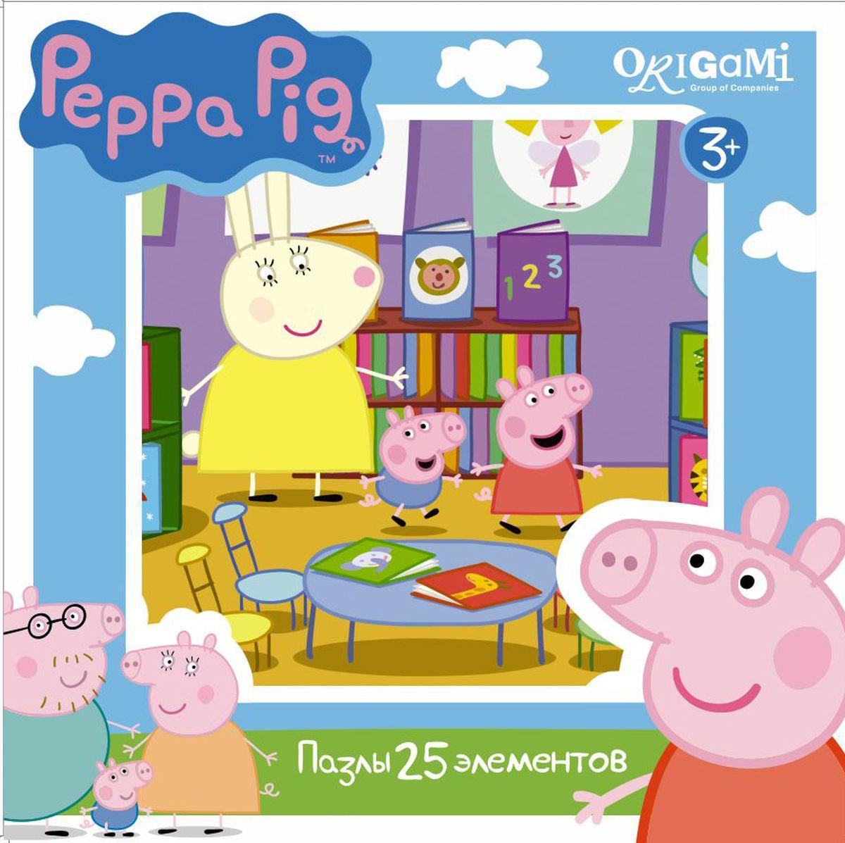 Оригами Пазл для малышей Peppa Pig 01583 origami пазл макси peppa pig магазин фруктов 35 элементов