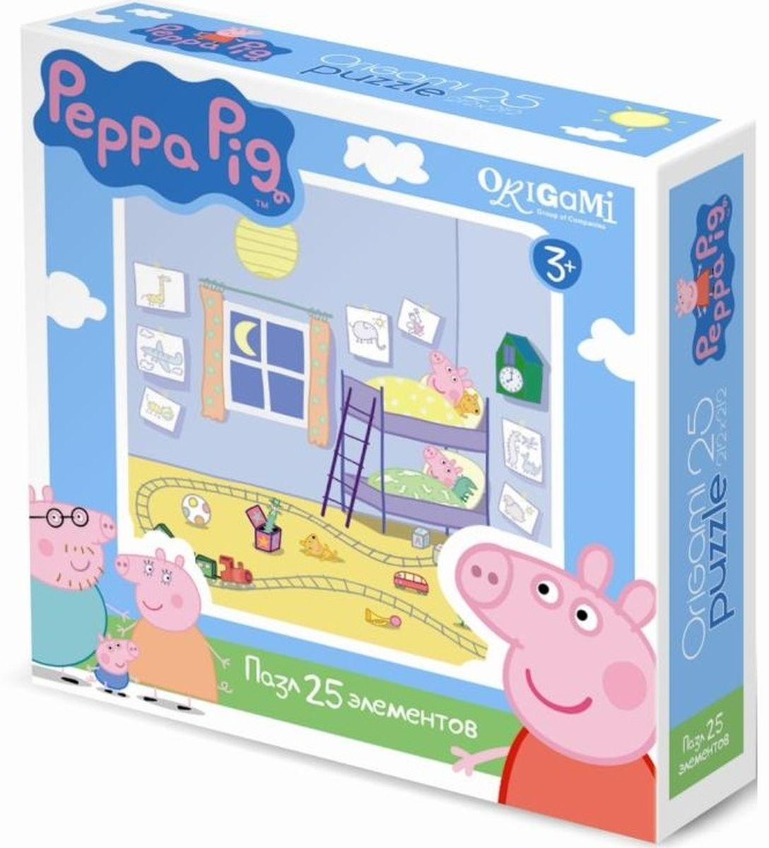 Оригами Пазл для малышей Peppa Pig 01582 пазл 4 в 1 peppa pig транспорт 01597