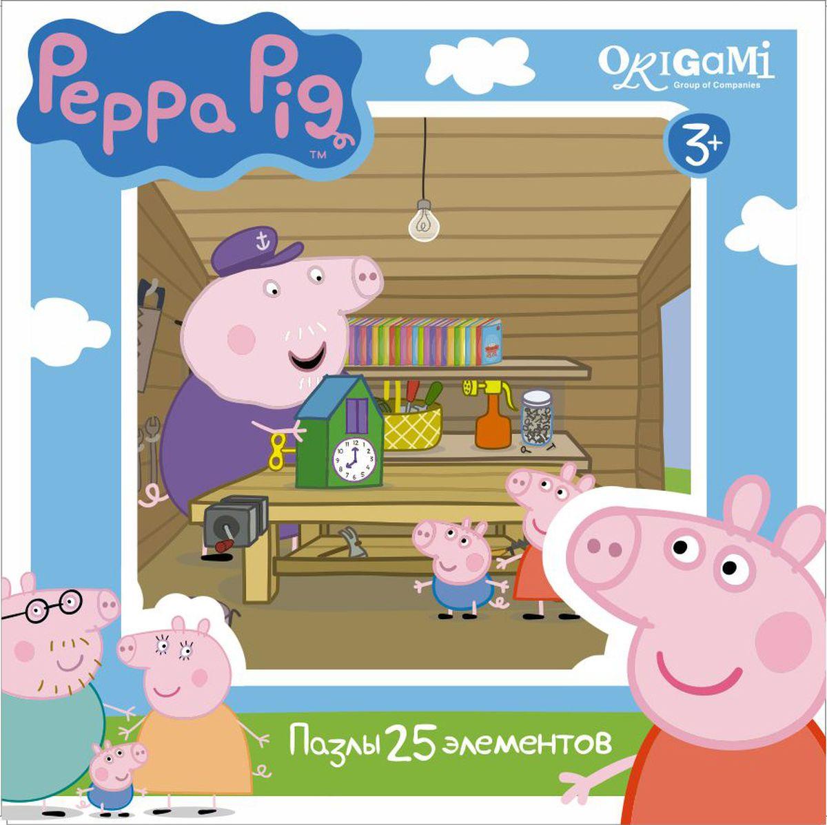 Оригами Пазл для малышей Peppa Pig 01580 origami пазл peppa pig семья кроликов 24 детали