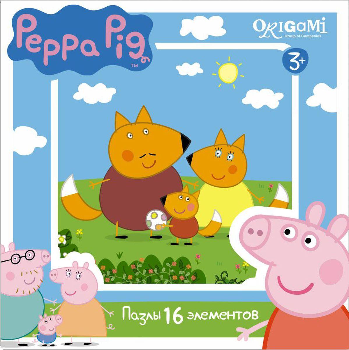 Оригами Пазл для малышей Peppa Pig 01579 оригами пазл для малышей peppa pig 4 в 1 транспорт