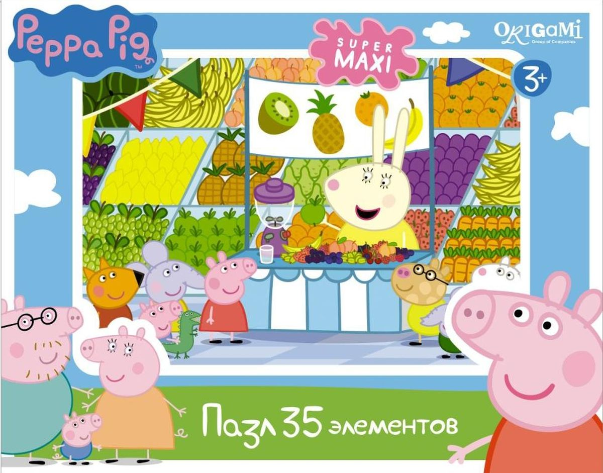Оригами Пазл для малышей Peppa Pig Магазин фруктов
