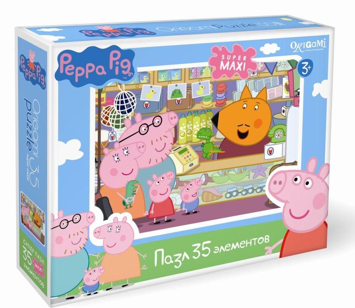 Оригами Пазл для малышей Peppa Pig Сувенирная лавка пазл origami 01569 peppa pig 24эл