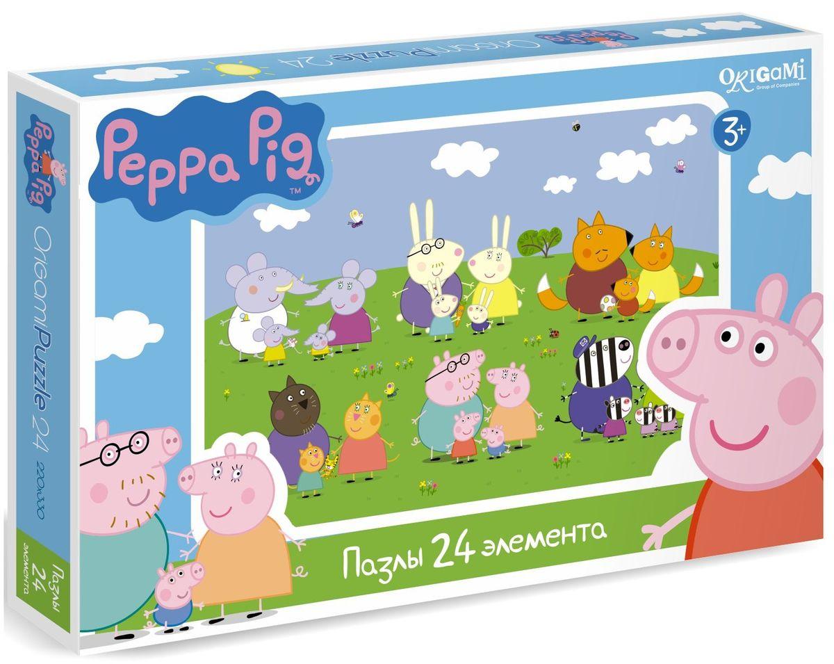 Оригами Пазл для малышей Peppa Pig 01570 peppa pig пазл супер макси 24a контурный магниты подставки семья кроликов