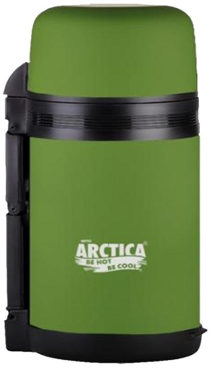 Термос Арктика, с чашами, цвет: болотный, 1 л203-1000 болотныйТермос Арктика сохранит вашу еду или напитки горячими в течение долгого времени. Изделие выполнено из высококачественной нержавеющей стали с элементами из пластика. Термос оснащен крышкой, которую можно использовать в качестве чаши или миски, так же имеется дополнительная чаша и ремешок на плечо для удобной переноски.Пробка термоса состоит из двух составных частей: узкая внутренняя пробка пригодится для напитков, а более широкую внешнюю часть можно снять, чтобы удобнее было доставать из термоса еду. Забудьте об этих неудобствах - вместительный и компактный термос Арктика с радостью послужит вам в качестве миниатюрной полевой кухни, поднимет настроение нарядным внешним видом и вкусной домашней едой.Не рекомендуется мыть в посудомоечной машине.Время сохранения температуры (холодной и горячей): 20 часов.Диаметр широкого горлышка (по верхнему краю): 7,5 см.Диаметр клапана: 6,5 см.Диаметр крышки (по верхнему краю): 10,5 см.Высота крышки: 6,5 см.Диаметр пластиковой чаши (по верхнему краю): 9,5 см. Высота пластиковой чаши: 4 см.Высота (с учетом крышки): 23,5 см.