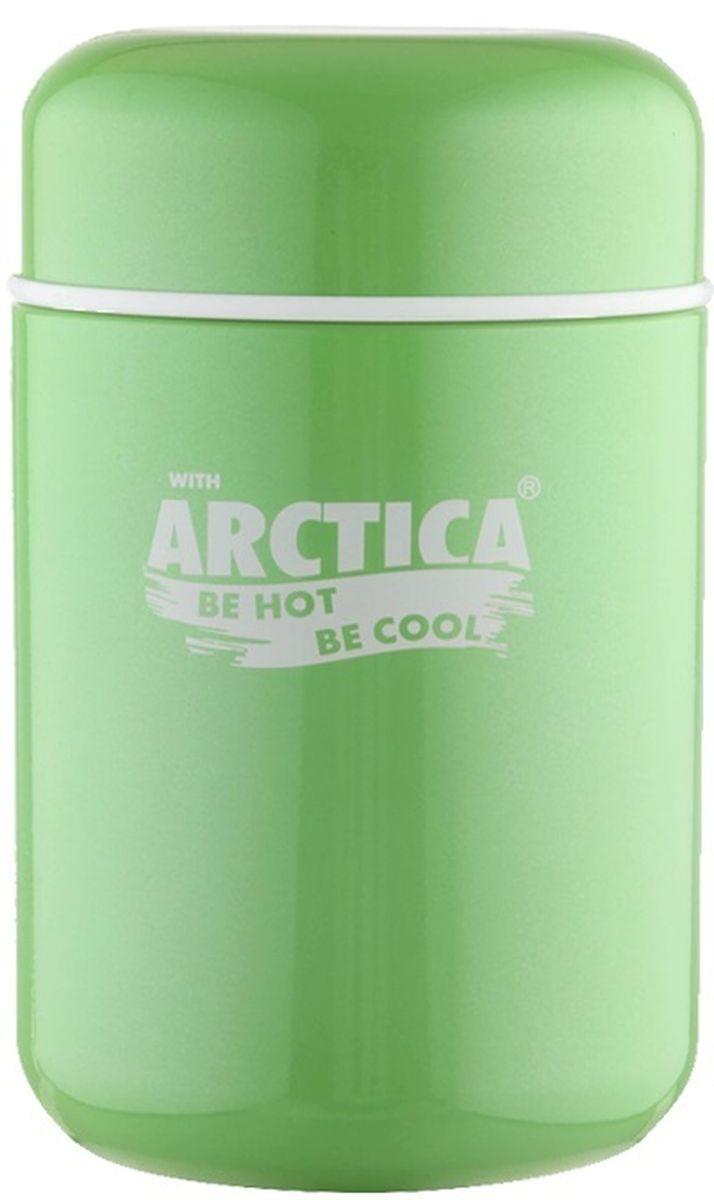 Термос-бочонок Арктика, 400 мл411-400 зелёныйТермос с широким горлом Арктика, изготовленный из высококачественной нержавеющей стали 18/8, прост в использовании и многофункционален. Изделие имеет двойные стенки, что позволяет содержимому долго оставаться горячим или холодным. Термос снабжен удобной крышкой.Термос сохраняет температуру горячих или холодных продуктов до 6 часов. Крышка плотно закрывается. Не рекомендуется мыть в посудомоечной машине и использовать в микроволновой печи.Высота (с учетом крышки): 15 см.Диаметр горлышка: 7,5 см.Диаметр основания: 8,5 см.