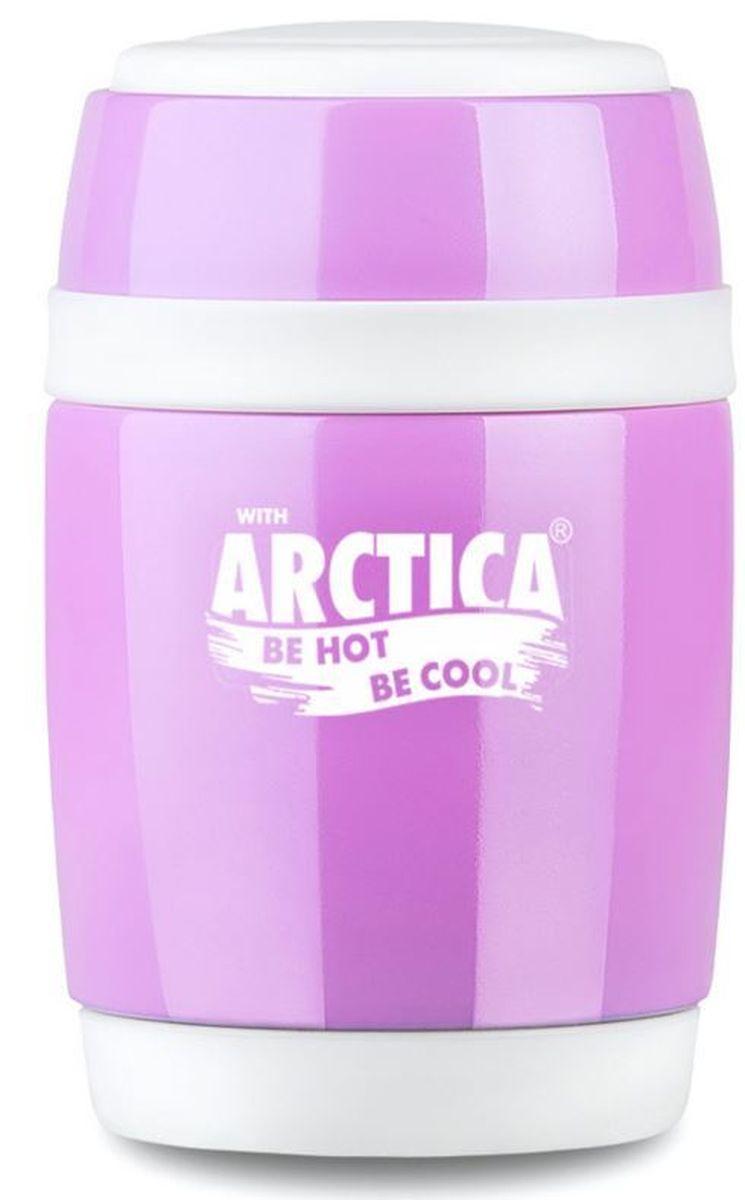 Термос Арктика, с ложкой, 380 мл409-380_сиреневый, белыйТермос Арктика выполнен из высококачественной нержавеющей стали с элементами из пищевого пластика. Термос с широким горлом предназначен для хранения горячей и холодной пищи, замороженных продуктов, мороженного, фруктов и льда и укомплектован откручивающейся пробкой без кнопки. Такая пробка надежна, проста в использовании и позволяет дольше сохранять тепло благодаря дополнительной теплоизоляции. Для большего удобства изделие оснащено складной ложкой. Термос Арктика сохранит ваши напитки и продукты горячими или холодными надолго.Не рекомендуется мыть в посудомоечной машине.Высота термоса (с учетом крышки): 13,5 см.Диаметр горлышка: 8 см.Длина ложки: 12,5 см.