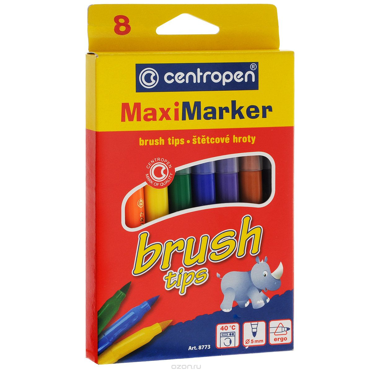 Набор смываемых маркеров Brush, 8 цветов8773/08Характеристики: Длина маркера: 14,5 см. Диаметр наконечника: 5 мм. Размер упаковки:11 см х 18 см х 1,3 см.