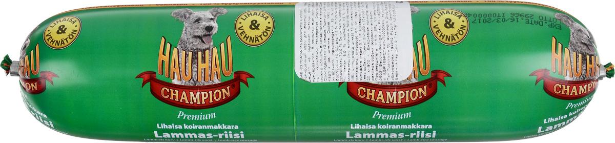 Колбаса для собак Hau-Hau, из баранины с рисом, 800 г81200Колбаса для собак Hau-Hau содержит большое количество мяса и подходит для собак любых размеров. Колбаса изготовлена из свежего мяса, содержание которого не менее 95%. Как связующее вещество используется мелкомолотый рис, продукт также обогащен витаминами и минералами. Колбаса не содержит пшеницу, пищевые красители, консерванты, кровь, рыбу и свинину. До вскрытия упаковки можно хранить при комнатной температуре. Открытый продукт следует хранить в холодильнике в течение 2-3 дней. Состав: мясо и продукты животного происхождения 95% (из которых баранины 10%), рис 4,1%, витамины и минералы. Пищевая ценность: влажность 70%, белки 14,0%, масла и жиры 10%, прокаленный остаток 5%, клетчатка 0,5%.Добавленные витамины и минералы: витамин A 3000 М.Е., витамин D3 300 М.Е, цинк (оксид цинка) 16 мг, железо (пантагидрат железного купороса) 6,5 мг, медь (сульфат пантагидрат меди) 0,1 мг. Товар сертифицирован.Чем кормить пожилых собак: советы ветеринара. Статья OZON Гид