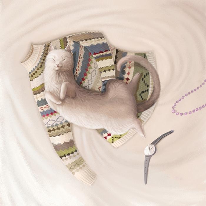 Открытка Кошка. Автор Варя КолесниковаL2430932Оригинальная дизайнерская открытка «Кошка» выполнена из плотного матового картона. На лицевой стороне расположена репродукция работы художницы Вари Колесниковой с кошкой, спящей на кровати. Такая открытка станет великолепным дополнением к подарку или оригинальным почтовым посланием, которое, несомненно, удивит получателя своим дизайном и подарит приятные воспоминания.