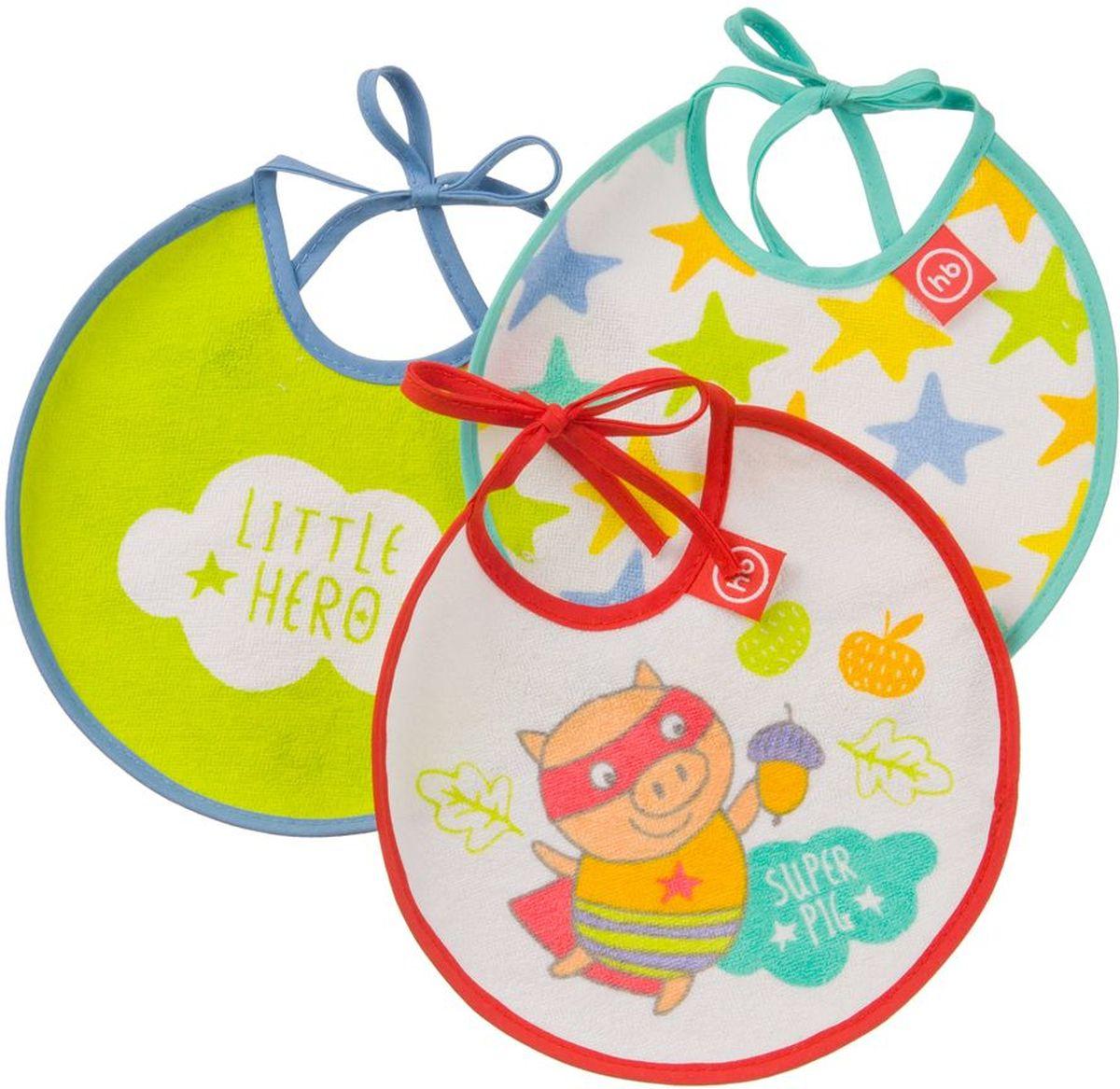 Happy Baby Набор нагрудных фартуков Маленький герой 3 шт -  Все для детского кормления