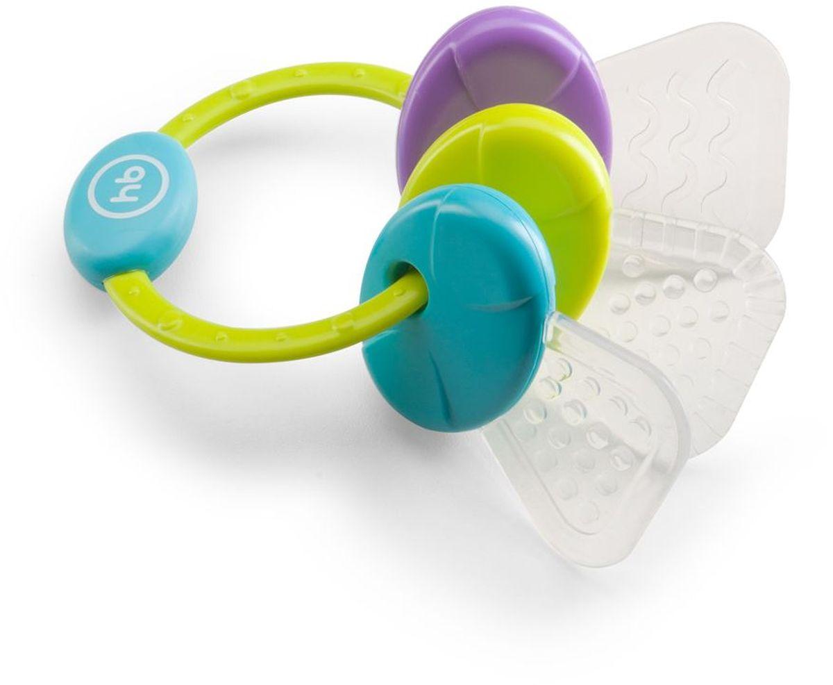 Happy Baby Погремушка-прорезыватель цвет салатовый голубой фиолетовый -  Все для детского кормления