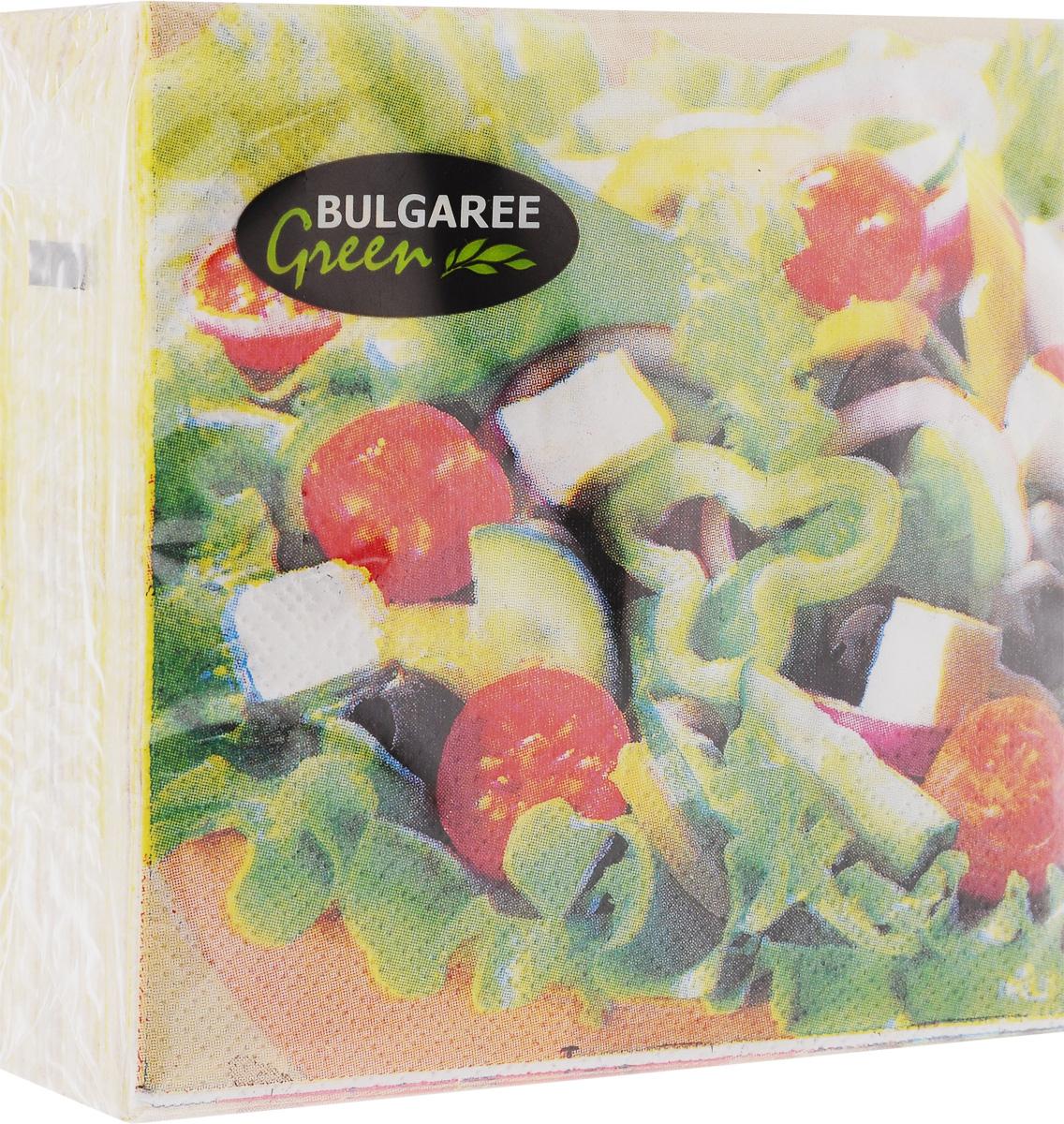 Салфетки бумажные Bulgaree Green Греческий салат, двухслойные, 24 х 24 см, 50 шт