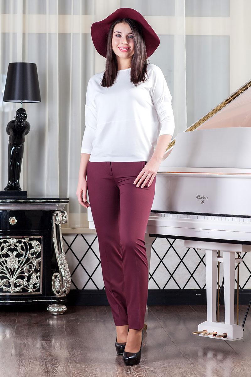 Брюки женские Ruxara, цвет: бордовый. 2700102_41. Размер 46 блуза mango блуза