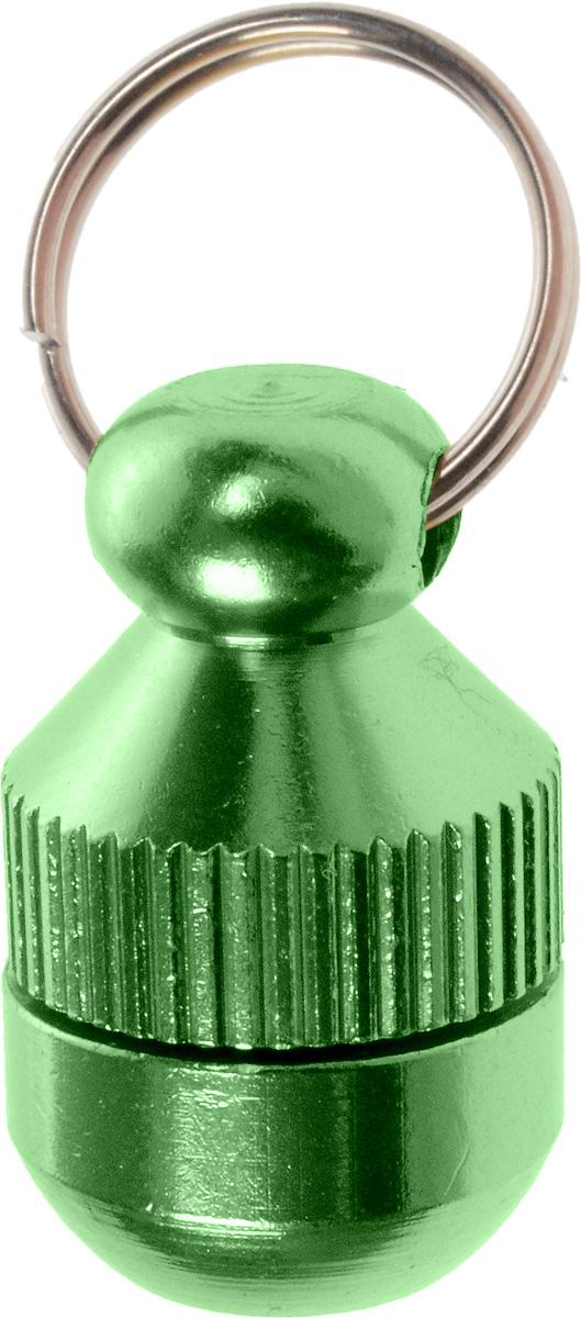 Адресник-капсула Vila, цвет: зеленый, 2 смJB-2003_зеленыйАдресник-капсула Vila является одним из способов идентификации животных. Корпус изделия выполнен из прочного алюминия. Внутрь капсулы вкладывается информация о животном и владельце, а также она служит украшением к ошейнику.