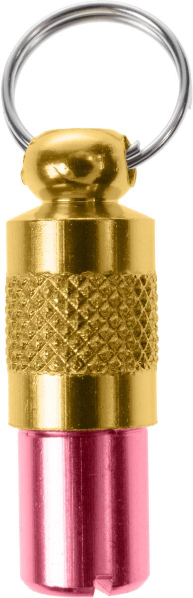 Адресник-капсула Vila, цвет: розовый, золотой, 2,7 х 1 х 1 смJB-2001_розовыйАдресник-капсула Vila является одним из способов идентификации животных. Корпус изделия выполнен из прочного алюминия. Внутрь капсулы вкладывается информация о животном и владельце, а также она служит украшением к ошейнику.