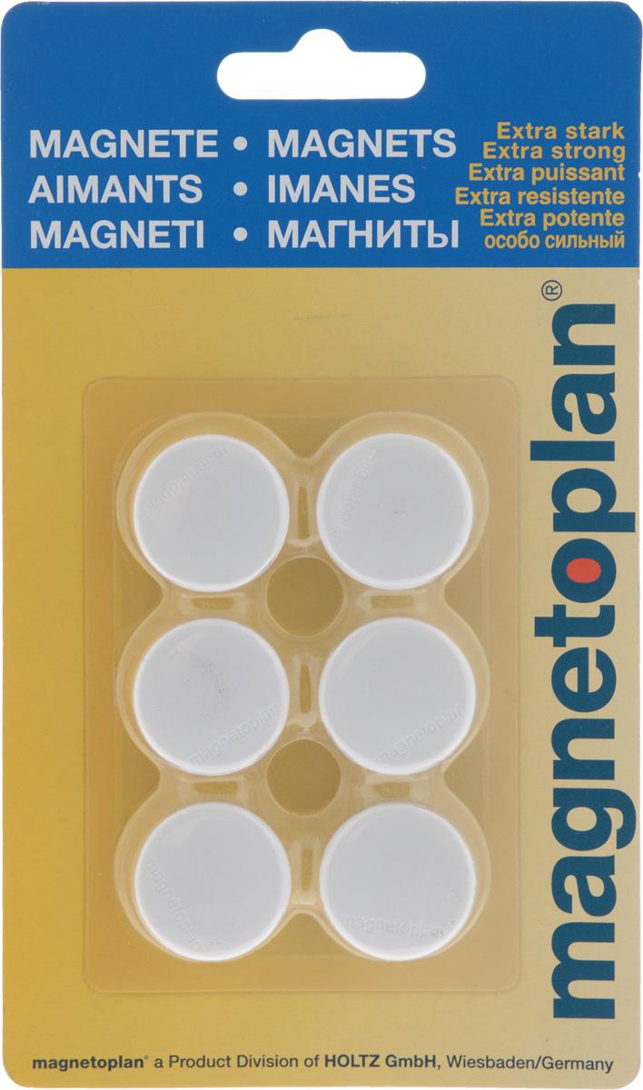 Магниты Magnetoplan, цвет: белый, 6 шт -  Аксессуары для досок и флипчартов
