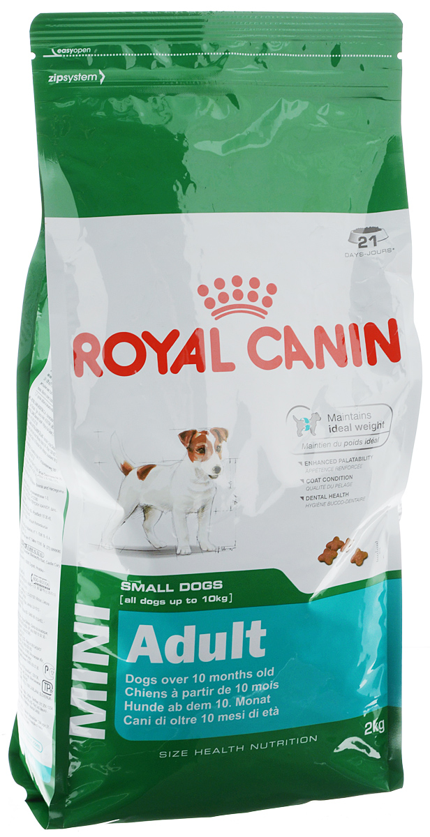 Корм сухой Royal Canin Mini Adult для собак мелких пород, 2 кг корм сухой royal canin mini light weight care для взрослых собак склонных к ожирению 2 кг