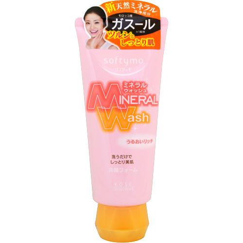 Кose Увлажняющая пенка для умывания с цветочным ароматом, Softymo Mineral Wash 130 г кремы kose очищающий крем для лица с разглаживающим эффектом kose cosmeport natu savon 130 г