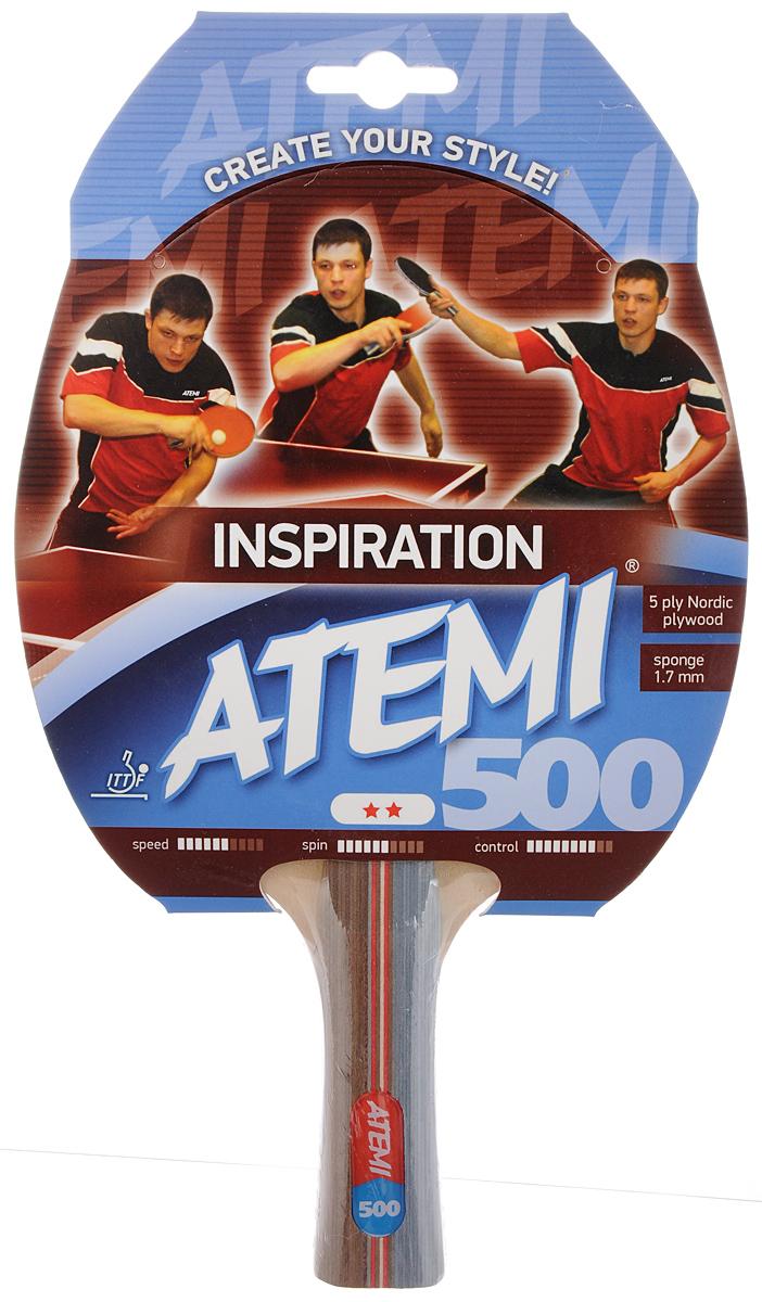 Ракетка для настольного тенниса Atemi Inspiration 500, цвет: красный, черный