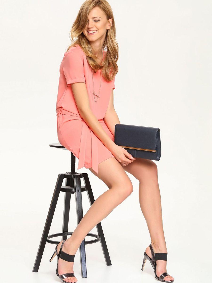 Платье Top Secret, цвет: коралловый. SSU1548RO. Размер 40 (46)SSU1548ROОчаровательное платье Top Secret, выполненное из высококачественного материала с подкладкой, идеально впишется в ваш гардероб.Модель с короткими рукавами и V-образным вырезом горловины застегивается по спинке на потайную застежку-молнию. Изысканное платье-миди, оформленное вытачками на груди, создаст обворожительный неповторимый образ. Талию подчеркнет пояс.Это модное и удобное платье станет превосходным дополнением к вашему гардеробу. Модель подарит вам удобство и поможет вам подчеркнуть вкус и неповторимый стиль.