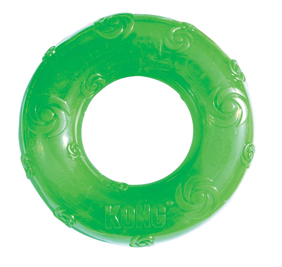 Игрушка для собак Kong Сквиз Кольцо, большое, резиновое с пищалкой игрушка для собак ziver осел длинноухий с пищалкой цвет голубой 18 см