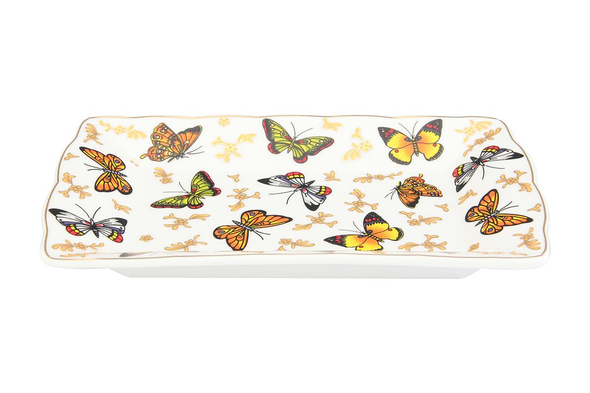 Масленка Elan Gallery Бабочки, 17 х 10,5 х 2 см масленка elan gallery синички в шиповнике 13 5 х 9 х 8 см