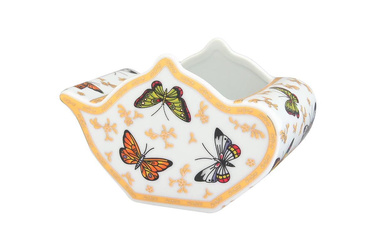 Подставка сервировочная для чайных пакетиков Elan Gallery Чайник. Бабочки, 12 х 9 х 8 см кофейный набор elan gallery бабочки