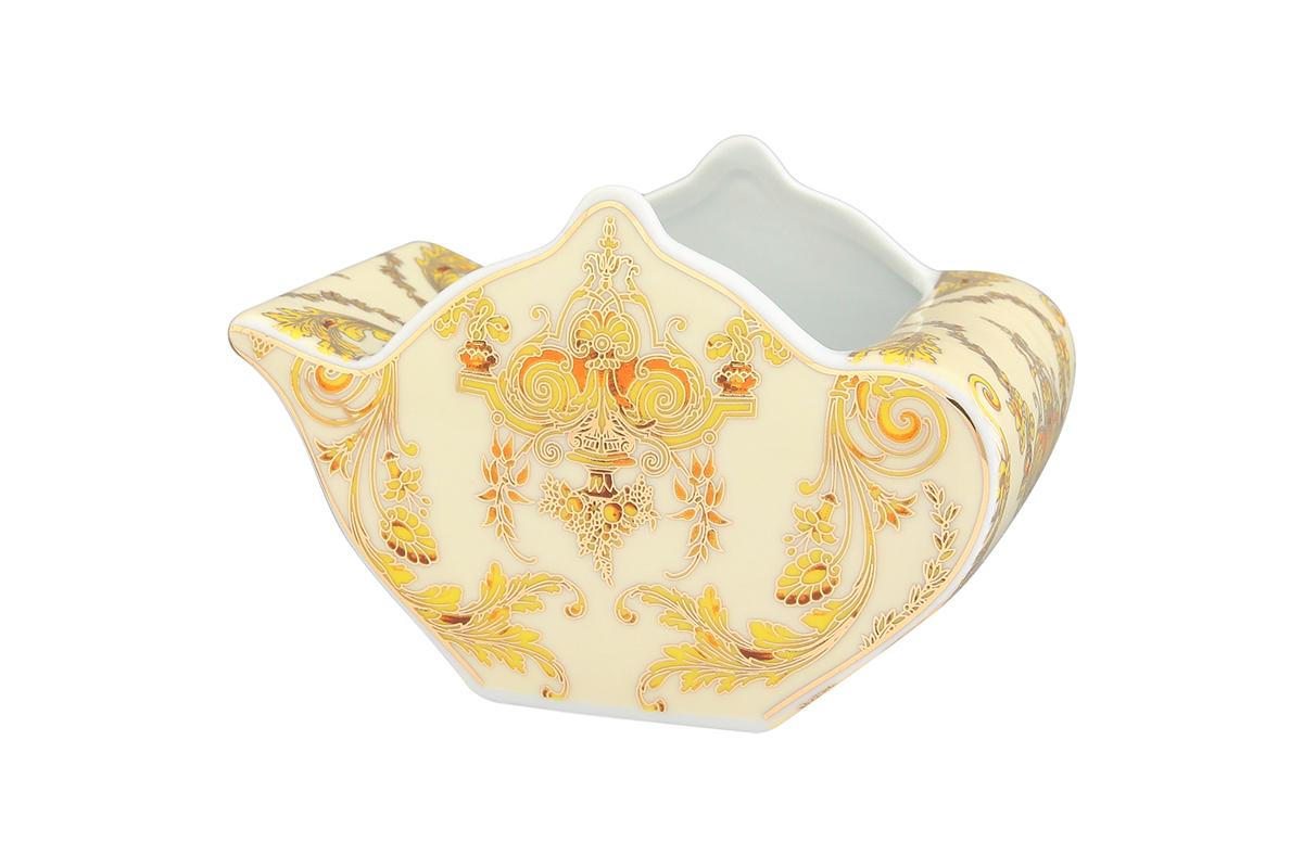 Подставка сервировочная для чайных пакетиков Elan Gallery Чайник. Узор золотой, 12 х 9 х 8 см504010Сервировочная подставка для чайных пакетиков Elan Gallery Чайник. Узор золотой, изготовленная из высококачественной керамики, порадует вас оригинальностью и дизайном. Изделие имеет изысканный внешний вид.Такая подставка, несомненно, понравится любой хозяйке и украсит интерьер любой кухни!