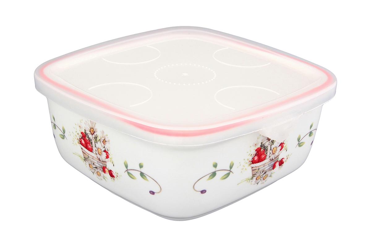 Блюдо для холодца Elan Gallery Ромашки, квадратное, с крышкой, 16 х 16 х 6,5 см101284Блюдо для холодца, изготовленное из высококачественной керамики, предназначено для приготовления и хранения заливного или холодца. Пластиковая крышка, входящая в комплект, сохранит свежесть вашего блюда. Также блюдо можно использовать для приготовления и хранения салатов. Такое блюдо, украшенное изысканными цветами, подчеркнет сервировку вашего стола ипрекрасный вкус хозяйки.
