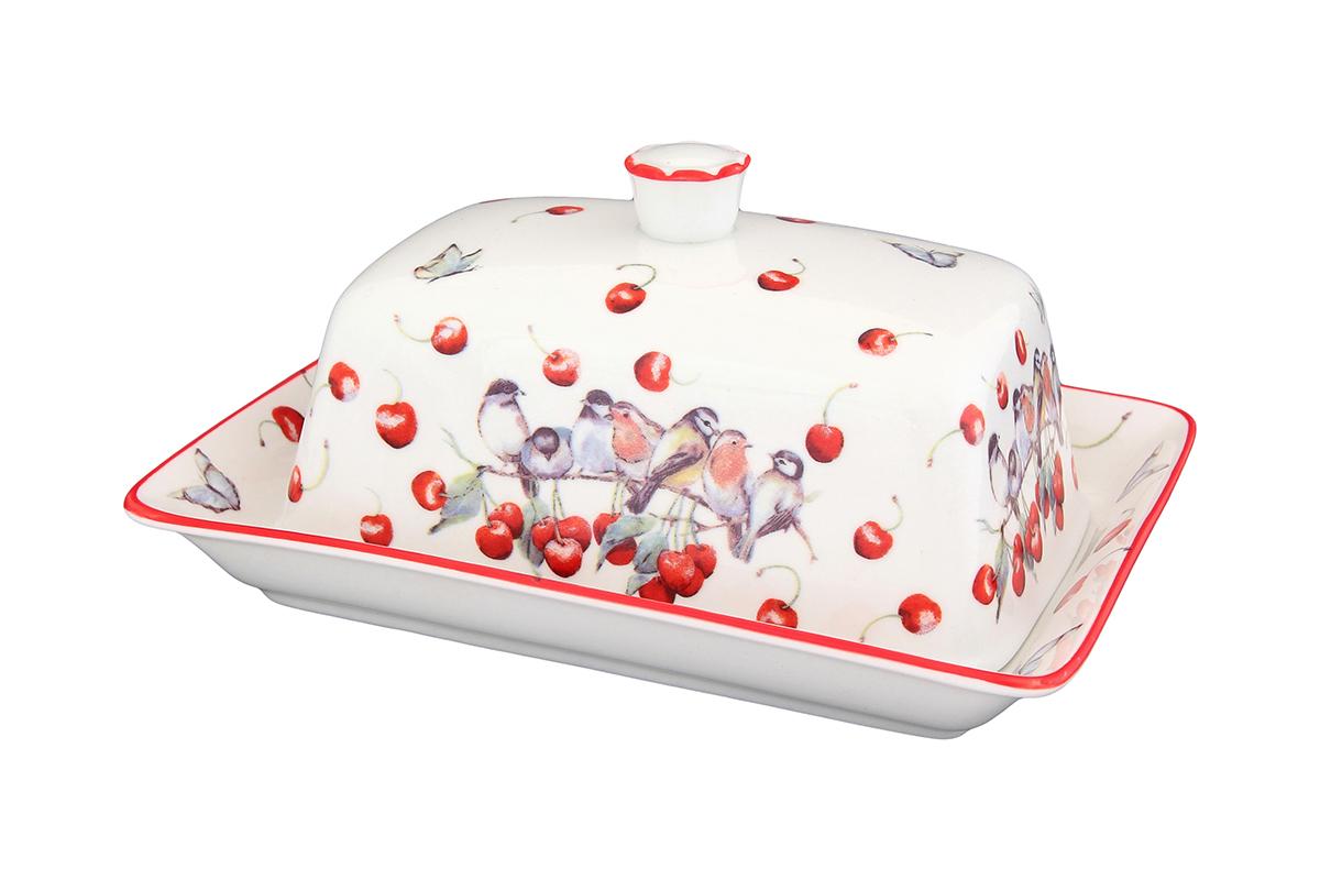 Масленка Elan Gallery Вишня101294Великолепная масленка Elan Gallery Вишня, выполненная из высококачественной керамики, предназначена для красивой сервировки и хранения масла. Она состоит из подноса и крышки. Масло в ней долго остается свежим, а при хранении в холодильнике не впитывает посторонние запахи. Масленка Elan Gallery Вишня идеально подойдет для сервировки стола и станет отличным подарком к любому празднику.Не рекомендуется применять абразивные моющие средства. Не использовать в микроволновой печи.Размер масленки: 18 х 12,5 х 8 см.
