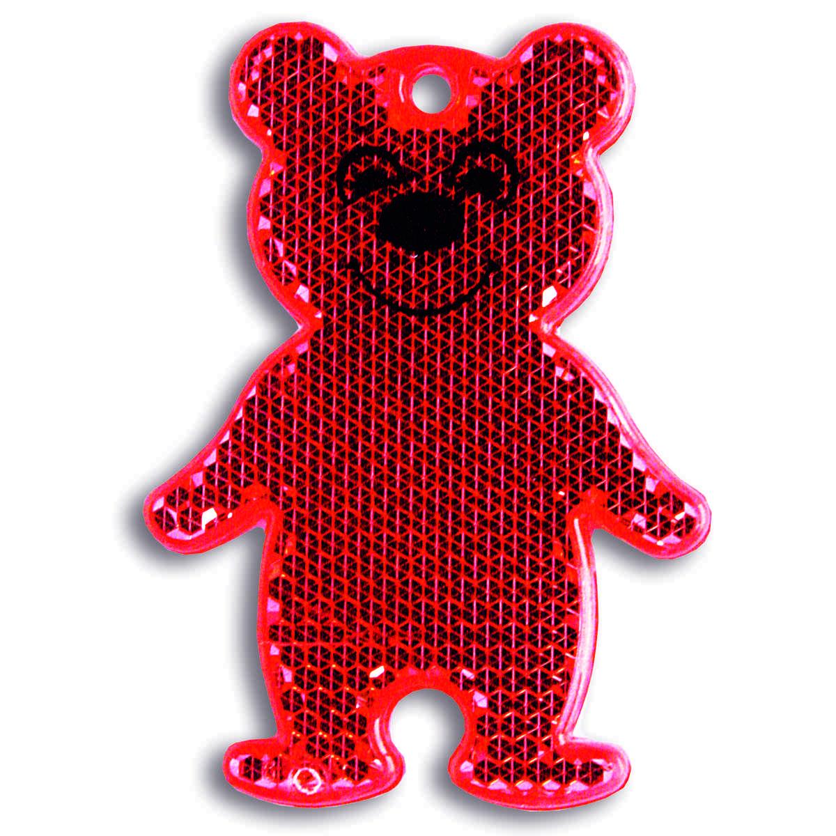 Мамасвет Светоотражатель пешеходный Мишка цвет красный
