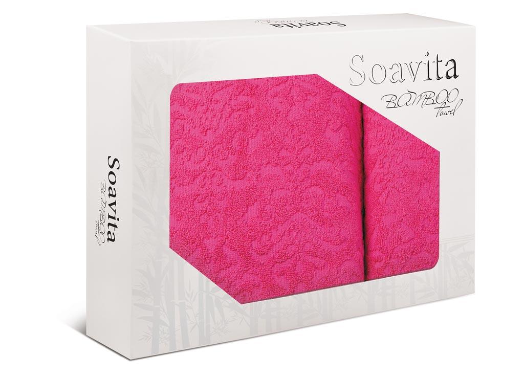 Набор махровых полотенец Soavita Flamingo, 2 шт полотенца кухонные la pastel набор полотенец 4 предмета из микрофибры 30х30