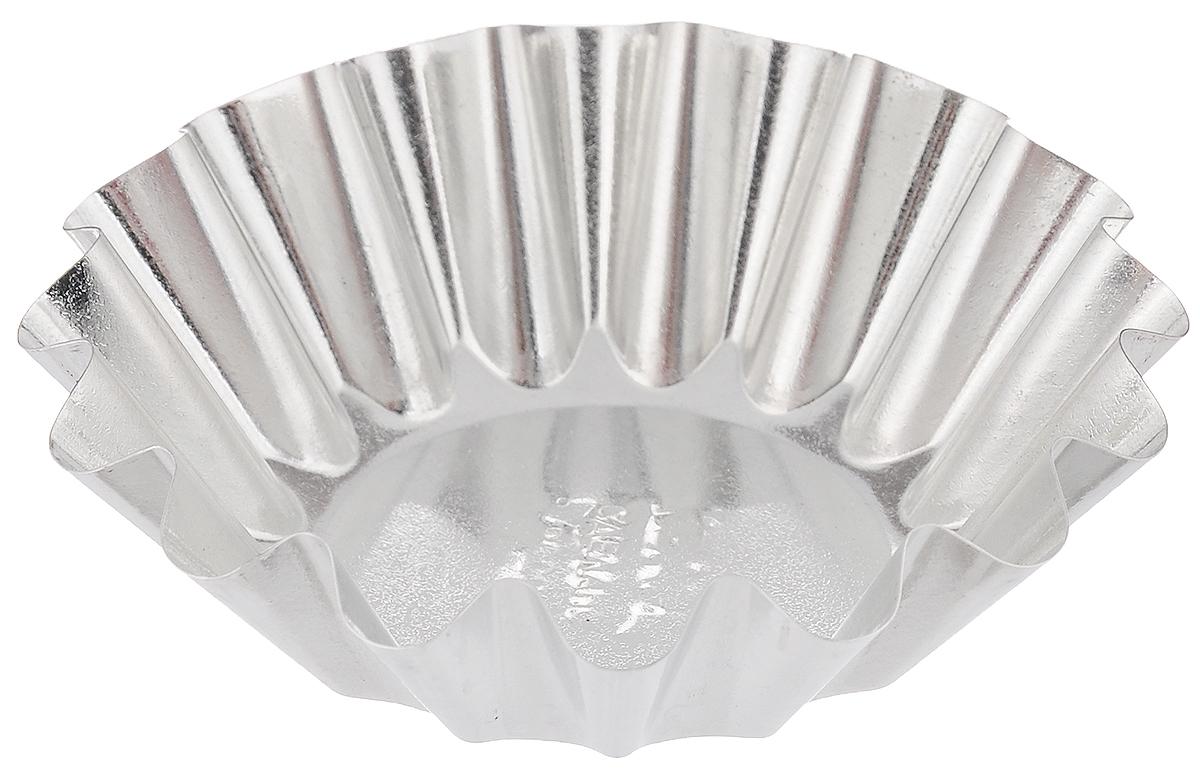 """Форма """"Кварц"""", выполненная из белой жести, предназначена для  выпечки и приготовления желе. Стенки изделия рельефные. С формой """"Кварц"""" вы всегда сможете порадовать своих близких  оригинальной выпечкой.  Размер формы (по верхнему краю): 9 х 9 см. Высота формы: 2,5 см."""