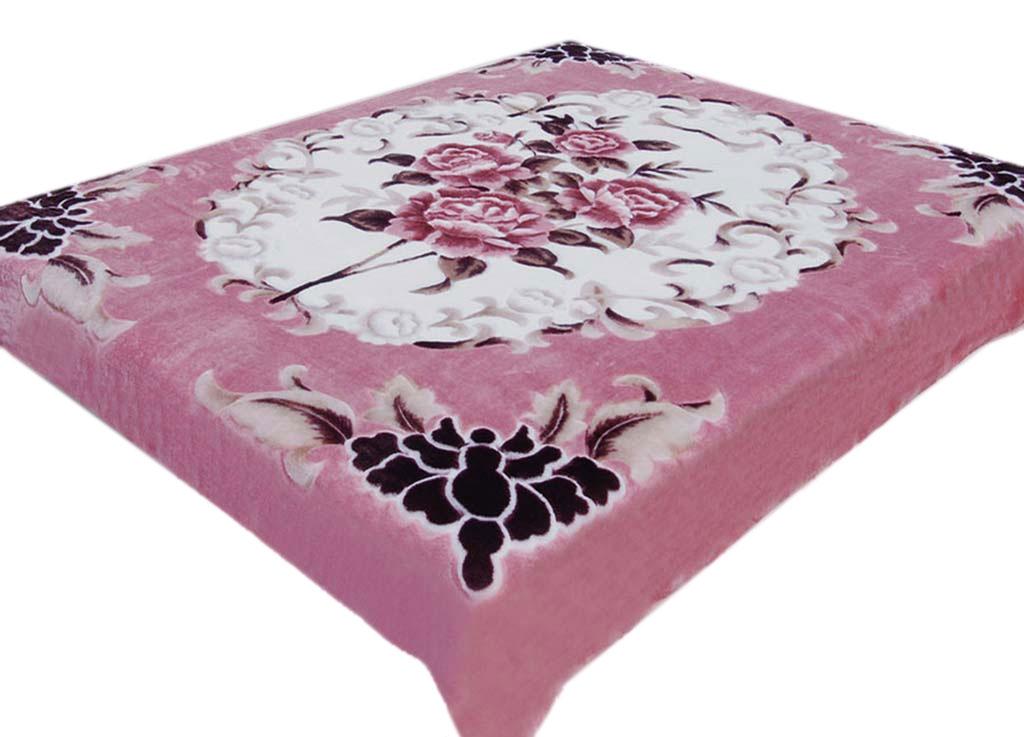 Плед Tamerlan, нестриженый, цвет: розовый, 200 х 240 см. 6349863498плотность 440 гр/м2