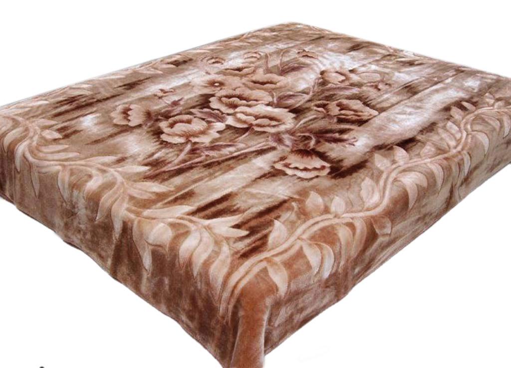Плед Tamerlan, нестриженый, цвет: светло-коричневый, 200 х 240 см. 6842068420плотность 440 гр/м2