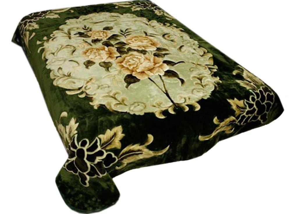 Плед Tamerlan, нестриженый, цвет: зеленый, 150 х 200 см. 74531