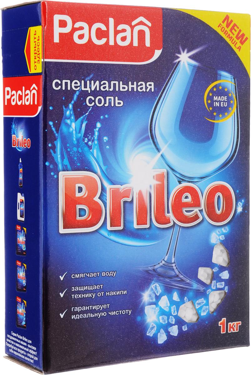 Соль специальная для посудомоченых машин Paclan Brileo, 1 кг419150Специальная соль Paclan Brileo защищает посуду и посудомоечную машину от вредных известковых отложений, образующихся из-за жесткости воды. Смягчает воду, увеличивает эффективность используемого моющего средства, предотвращает появление водяных подтеков. Применяйте соль вместе с порошком и жидкостью для ополаскивания.Состав: крупнокристаллическая каменная соль (хлорид натрия).