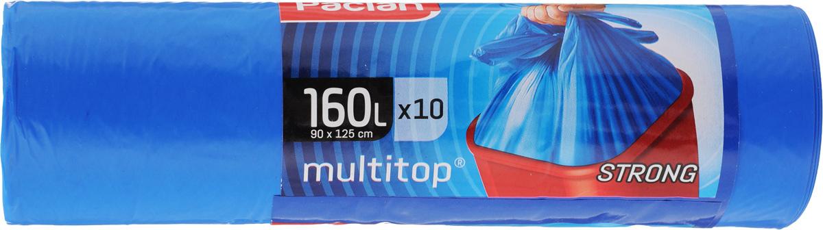 Мешки для мусора Paclan Multitop, 160 л, 10 шт мешки для мусора лайма медицинские класс г цвет черный 100 л 50 шт