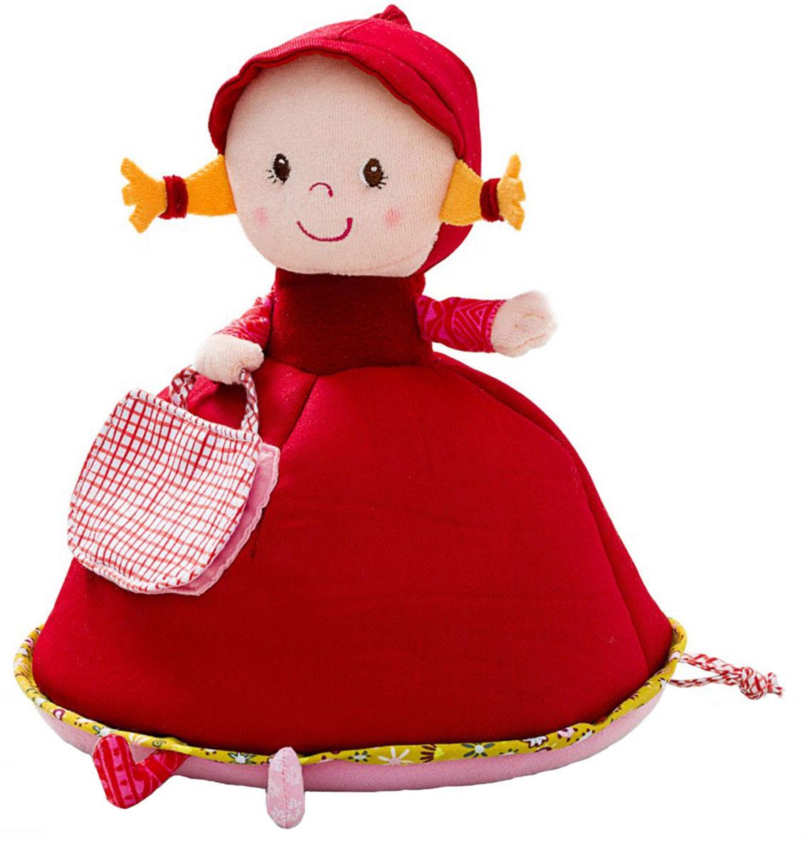 """Музыкальная копилка Lilliputiens """"Красная Шапочка"""" станет не только полезным  аксессуаром, который научит ребенка беречь денежки, но и чудесным  украшением детской комнаты! Она надежно сохранит монетки в своей  сумочке! Когда монетка опускается в отверстие, начинает звучать мелодия: """"Don"""