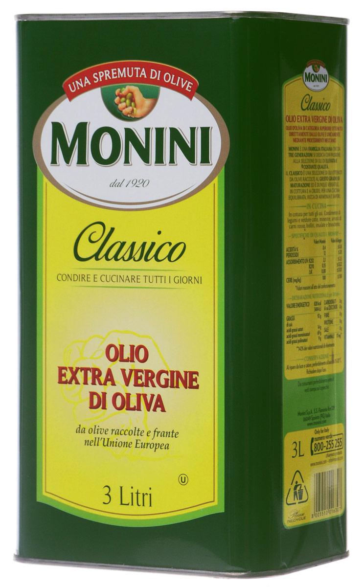 Monini Extra Virgin масло оливковое, 3 л цена