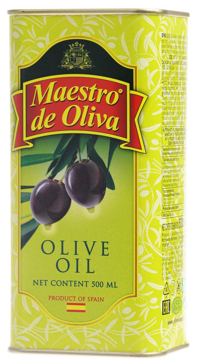 Maestro de Oliva масло оливковое, 0,5 л1650006/1Оливковое масло Maestro de Oliva рафинированное с добавлением нерафинированного масла холодного отжима. Оливковое масло от Maestro de Oliva - известный и качественный продукт, отмеченный как специалистами, так и обычными потребителями. Масло под этой маркой на протяжении 13 последних лет выигрывало разные престижные премии и награды, как Товар года, а также награждено двумя звездами отличного вкуса престижного конкурса продуктов питания, организованного Международным институтом вкуса и качества в Брюсселе Superior award taste.