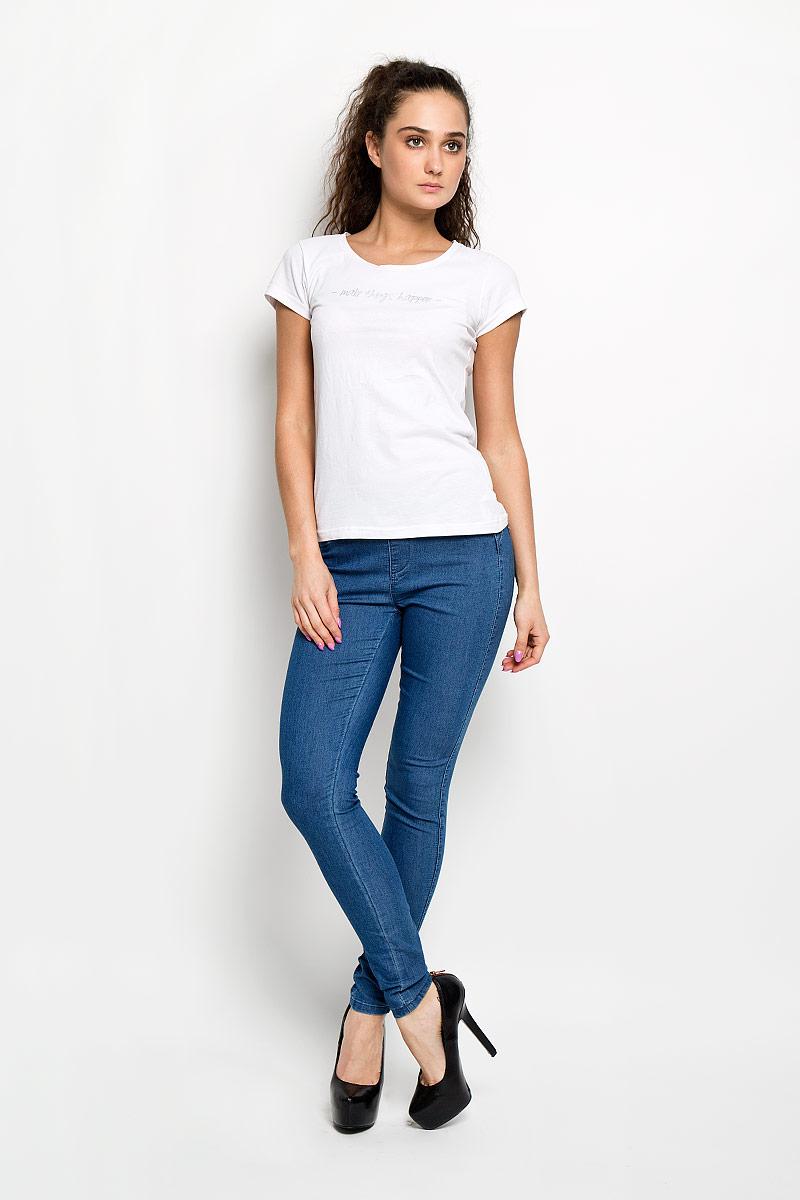 цена Джинсы женские Moodo, цвет: синий. L-JE-2003 Regular. Размер S (44) онлайн в 2017 году