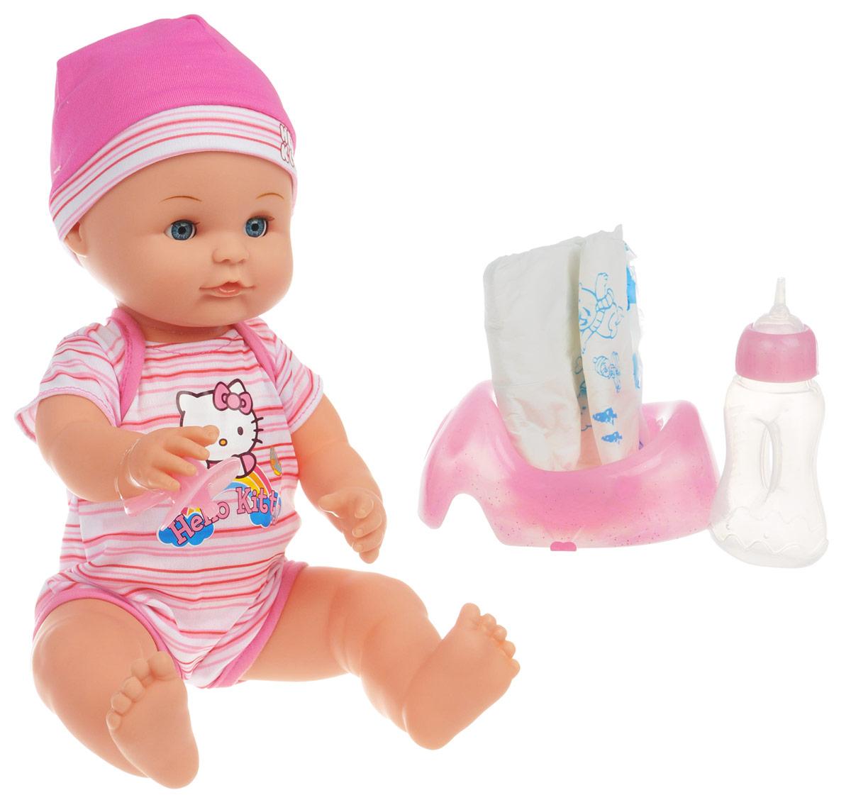Карапуз Пупс Hello Kitty цвет одежды розовый белый куклы карапуз пупс карапуз 20см 3 функции пьет писает закрывает глазки в ванне с аксессуарами
