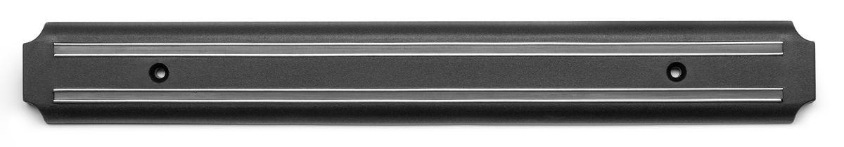 """Держатель Apollo """"Sapphire"""" предназначен для  удобного хранения металлических кухонных  ножей. Он оснащен сильными магнитами для  надежной фиксации ножей. Держатель крепится к  стене при помощи двух шурупов с  дюбелями (входят в комплект) в любом удобном  месте. Изделие изготовлено из высококачественной  нержавеющей стали, магнита и прочного пластика.   Держатель для ножей Apollo """"Sapphire"""" идеально  впишется в интерьер современной кухни и  позволит полнее использовать пространство,  избегая размещения ножей на горизонтальной  поверхности.Не рекомендуется мыть в  посудомоечной машине. Размер держателя: 38,5 х 5 х 1,3 см."""