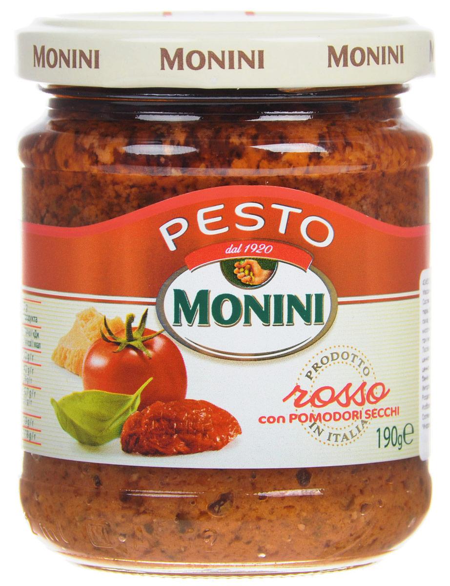 Monini Pesto Rosso соус песто томатный, 190 г био соус томатный аррабиат auchan 200г