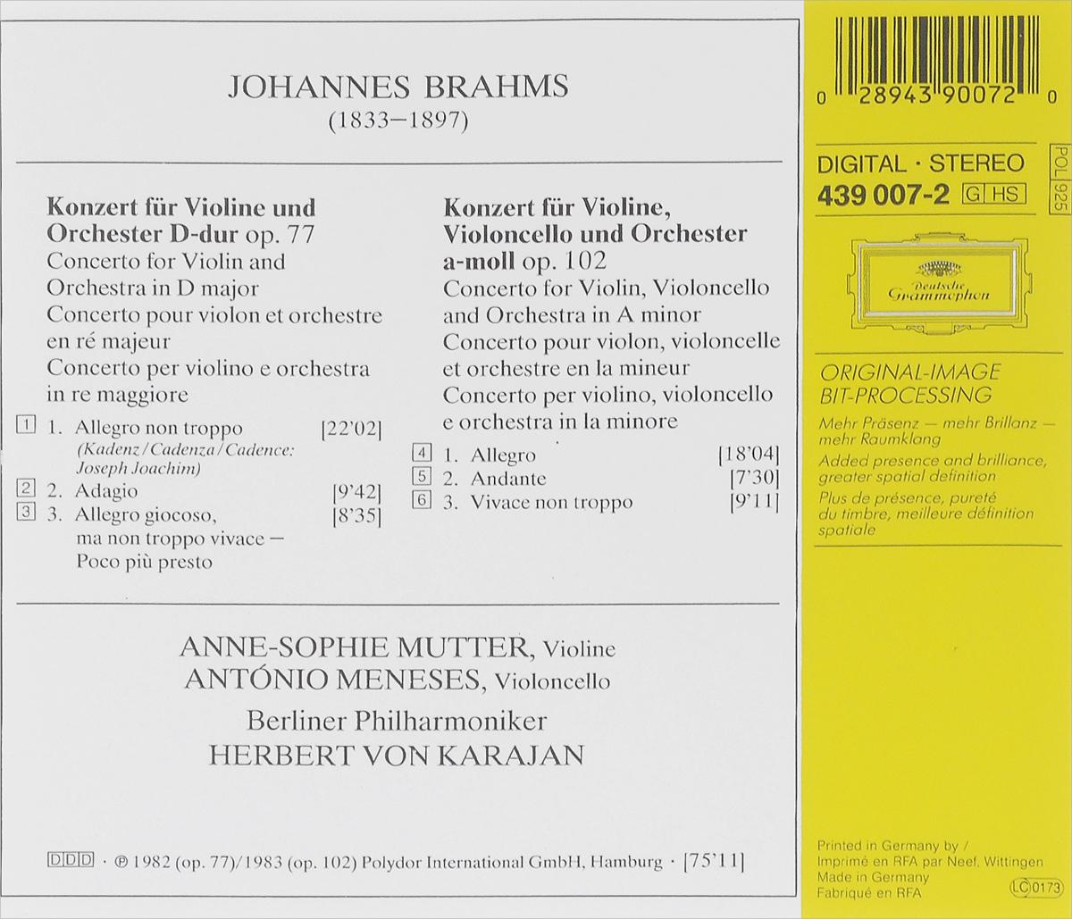 Herbert Von Karajan.  Johannes Brahms.  Violinkonzert / Doppelkonzert Polydor International GmbH, Hamburg,ООО
