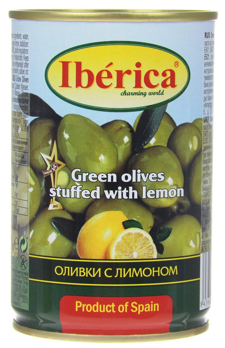 Iberica оливки с лимоном, 300 г bonduelle оливки без косточек 300 г