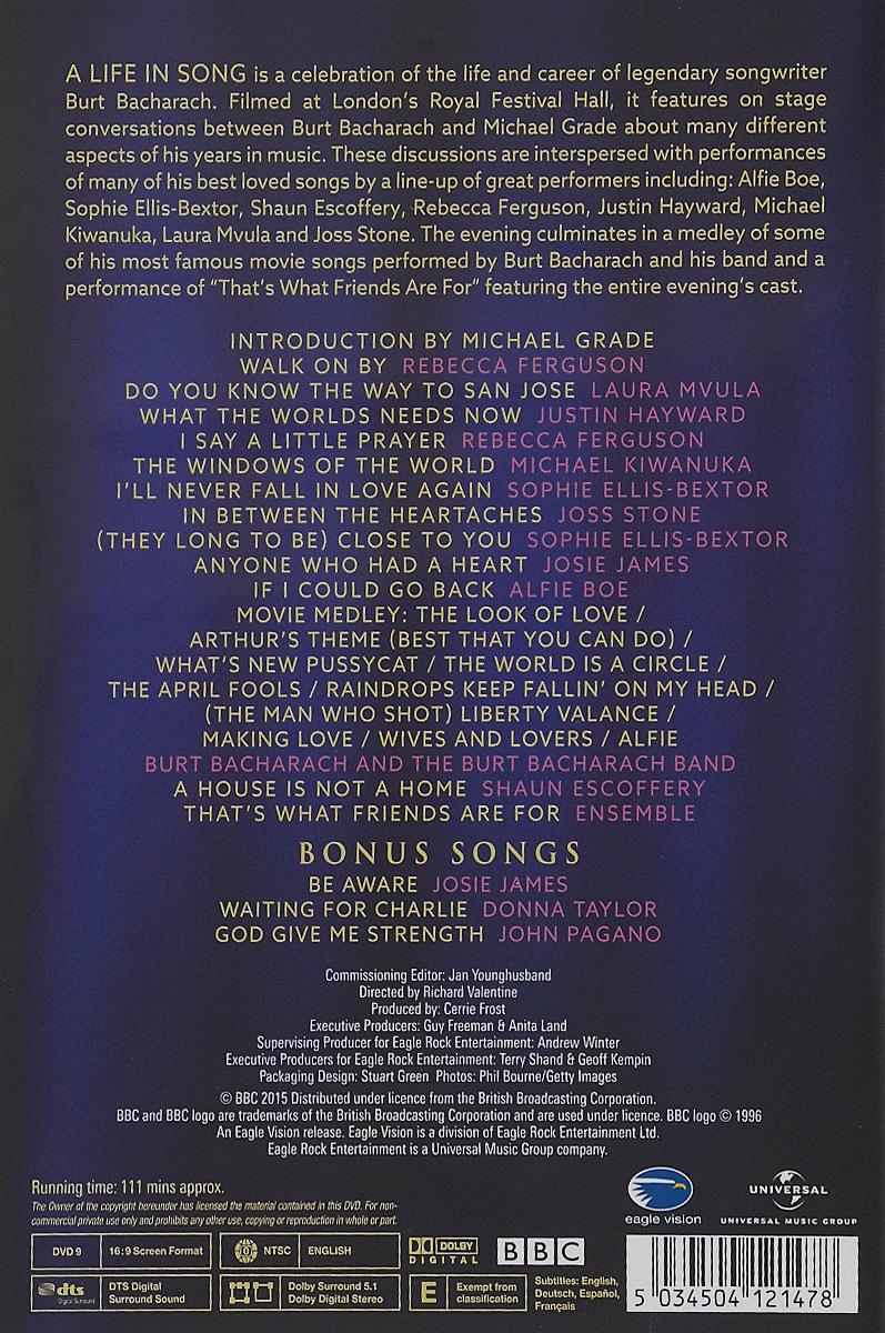 Burt Bacharach:  A Life In Song BBC